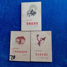 革命斗争回忆录  《英明的预见》、《毛主席在重庆》、《千里跃进逐鹿中原》(三本合售)