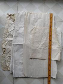 老旧熟宣纸,画稿纸8张合售,其中一张空白的
