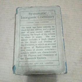 民国版:systematic lnorganic chemistry