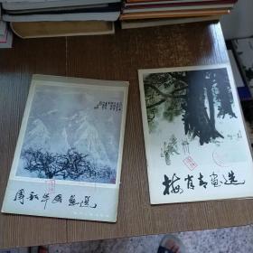 周昭华国画选   +  梅肖青画选   2本和售  实物拍图 现货 有馆藏 盖章