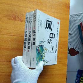 中国当代文化书系  小溪流的歌(上下)+风中站立  共3本合售【内页干净】
