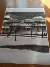 杨明义 江南雪。纸本大小68.3*68.3厘米。宣纸艺术微喷复制