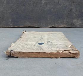 """民国时期石印本《算术进阶》,1册,日新石印局代印。尾页有""""定襄中等学校""""字样,大体品相如图。少见书。"""