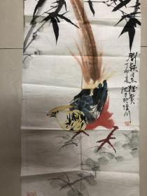 安徽著名画家沈力精品   锦鸡