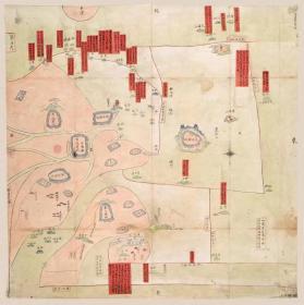 0369古地图1841 宁波府六邑海岛洋图 清道光21年以前。纸本大小55.42*55.51厘米。宣纸艺术微喷复制