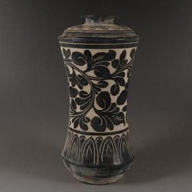 磁州窑黑釉花瓶