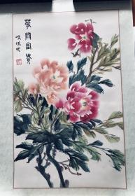 写意画《花开富贵》(已经托裱),购画书友,赠送画家画册一本。
