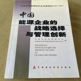 中国能源企业的战略选择与管理创新