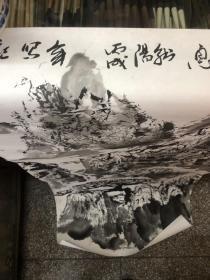 已故著名画家韩阳四尺精品山水