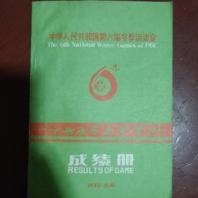 《中华人民共和国第六届冬季运动会成绩册》吉林 1987年 16开 私藏 书品如图