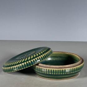 越窑青瓷印泥盒