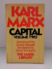 卡尔·马克思《资本论 政治经济学批判   第二卷》Marl Marx Capital A Critique of Political Economy Volume Two The Mark Library 英文原版书