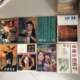 旧杂志8本,1980年左右,大理文化第55期,大众电影1981年第2期,青年一代1980年第3期,译林1981年第4期,连环画报1988年第7期,记者文学1987年9-10月号,中篇小说选刊1988年第2期。