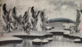 【于志学】冰雪山水画一幅