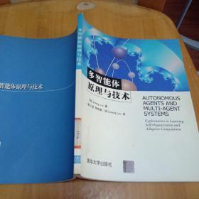 多智能体原理与技术(正版,带防伪标志)馆藏书,菲页有盖章,2003年一版一印仅印4千册