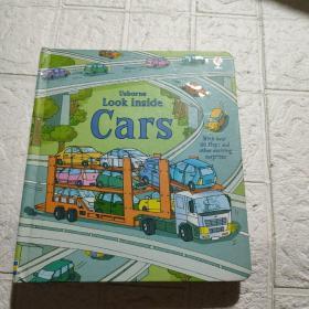 Usborne Look Inside Cars 看里面系列汽车低幼版 儿童英语早教启蒙认知纸板翻翻书 英文原版