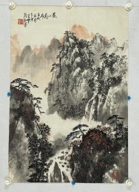侯友墨  尺寸  66/43  托片  又名及名,号云谷。1920年生,河北临榆人。中国美术家协会会员,中央文史馆馆员,曾任北京京华书画会会长。