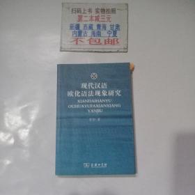 现代汉语欧化语法现象研究