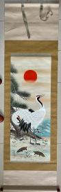 美峰,日式装裱,品相一流,画工细腻,装饰性強,题材好
