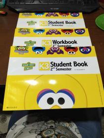 芝麻街英语 K3 student book 1.2.2.nd semester3本合售