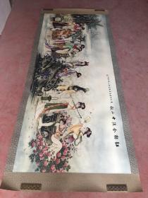 黄山寿绘画精品(红楼十二金钗全图) 2.6米X1.1米