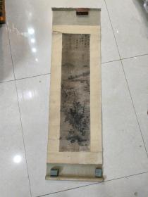 清代山水画(画心65 X 16)