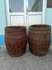 清代  柏木 酒桷  两个 完整正常使用