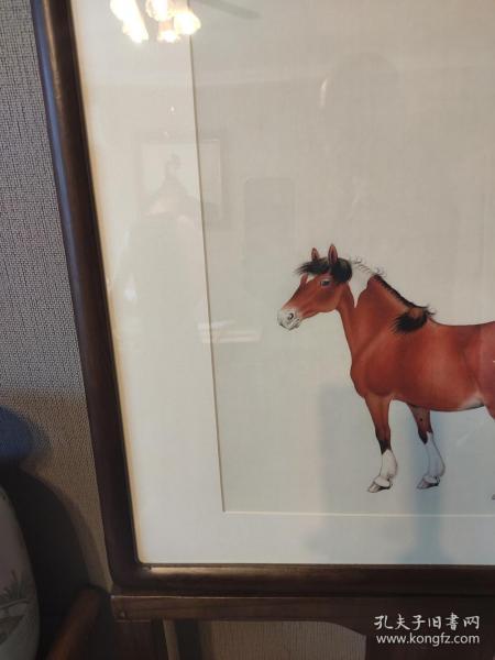 马晋 万里可横行65x65厘米 镜框  茶室书房挂画(实物拍 顺丰发)