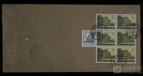 1981年郑州挂号寄上海封一件、贴普16(3分)六方连一件、普13(2分)一枚、销6月8日郑州戳、上海落戳