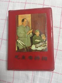 毛主席诗词(青海版) 带毛像、林题(他人拓贴),内页很多幅插图