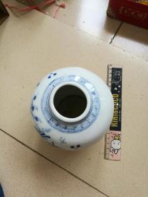 清末民国时期博古图青花罐