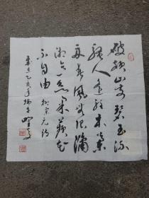 中书协会员江苏孙环勇 书法作品一幅 《盐城历史名人书法作品精选》编纂者