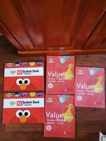 芝麻街英语 K1 Student Book(1 2)+价值观课程(3本)【五本合售】