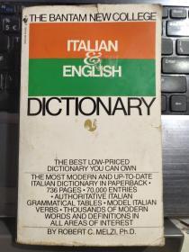 ITALIAN & ENGLISH DICTIONARY (意大利-英语/英语-意大利语 双向词典)