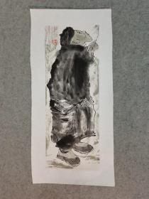 国画人物原稿手绘真迹 国画托片 作者不详