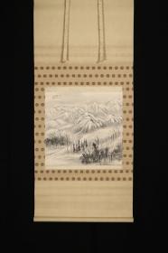 回流字画 回流书画《山林小品》作者:小塩美州(1899-1966)日本画家,师从野原樱州、寺崎广业。日本回流字画 日本回流书画