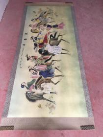 黄山寿绘画精品(游春图)2.7米X1.1米