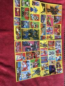 单张价格 九十年代年代黄边老贴纸 102变形金刚小版贴纸