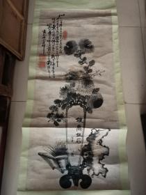 清代画家范云建花卉。124/55