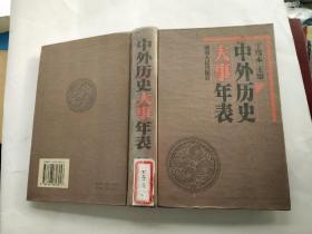 中外历史大事年表 丁笃本主编 湖南人民出版社 馆藏无涂画未阅过包正版1版1印