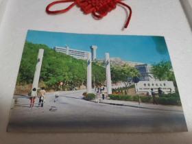 香港中文大学实寄明信片(带2分港口普通邮票两张)品质如图