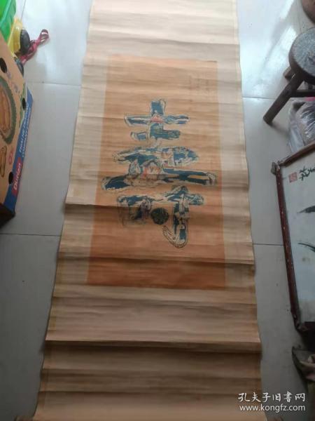 近代北京名人 马晋款 八仙庆寿图条幅,尺寸92-44cm