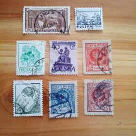 外国邮票 波兰信销邮票8枚(乙22-6)