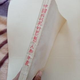 中国古代史的思想人物年表