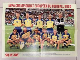 足球海报 2000欧洲杯 瑞典/拉尔森