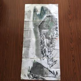 刘声雨山水画 【96厘米x45厘米】