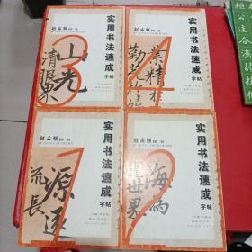 中国历代碑帖集句集联丛书 实用书法速成字帖 赵孟頫楷书 1-4全
