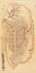 古地图1899 天津城厢保甲全图 清光绪二十五年。纸本大小81.94*164.05厘米。宣纸艺术微喷复制。360元包邮