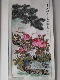 临沂知名画家刘光明四尺整张牡丹1幅〈已装裱
