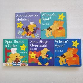 My Fun Spot小玻翻翻书纸板盒装英文原版绘本0—4岁(精装)5本合售